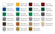 Преобразования цветов Oracal 641 в RGB и CMYK (Рекомендации КГА)