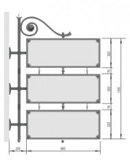 Консольная вывеска:  типовой внешний вид объектов для размещения информации
